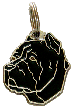CANE CORSO CROPPED EARS BLACK - pet ID tag, dog ID tags, pet tags, personalized pet tags MjavHov - engraved pet tags online